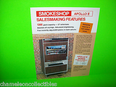 SMOKESHOP APOLLO II VEDNOR By AUTOMATIC PRODUCTS CIGARETTE VENDING MACHINE FLYER