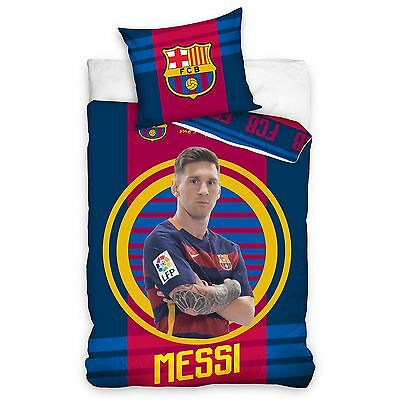 Fc Barcelona Messi Target Single Duvet Cover Set Official Bedding Free P+P