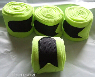 Ecotak Lime green polar fleece horse bandages