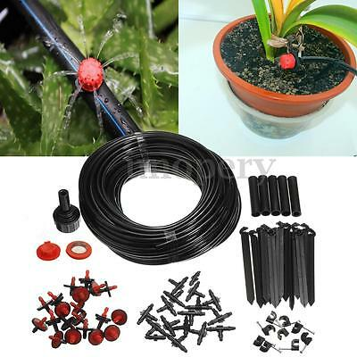 23M Micro Irrigation Watering Automatic Drip System Kit Plant Garden Greenhouse
