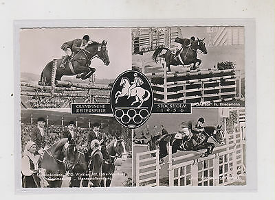 GERMANY,SWEDEN,OLYMPIC EQUESTRIAN nice postcard
