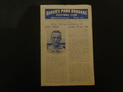 QUEENS PARK RANGERS v READING  1946/7