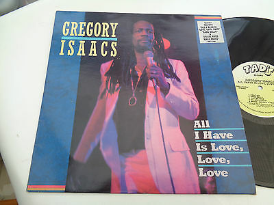 gregory isaacs  ( all i  have is love love  )  album  on tads  records  1986