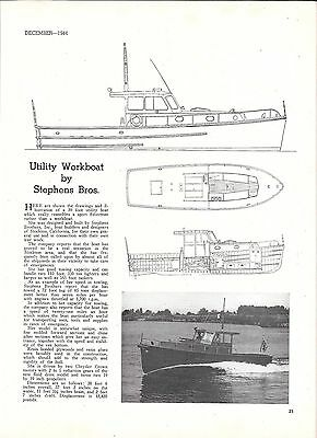 1944 Stephens Bros 39' Utility Workboat Review & Photo