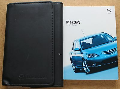 Mazda 3 Handbook Owners Manual Wallet 2003-2006 Pack 9554