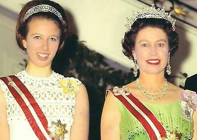 Postcard of Princess Anne, The Princess Royal, & Queen Elizabeth 2
