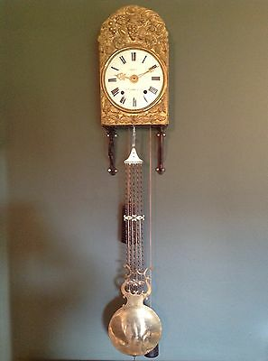 Antique French Morbier - Comtoise Clock c.1880. COMPLETE & WORKING