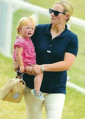 Postcard of Zara Tindall with Mia Grace