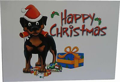 Rottweiler with Present Christmas Cards (10 cards)