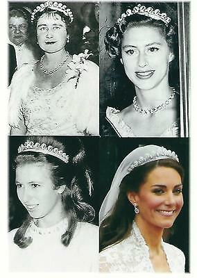 Postcard of The Queen Mother, Princess Margaret, Princess Anne & Catherine