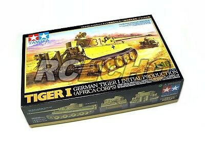Tamiya Military Model 1/48 German Tiger I Initial Production Africa Corps) 32529