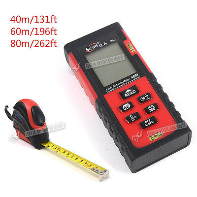 High-precision 40/60/80m Digital Laser Distance Meter Measure Tape Diastimeter