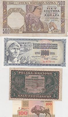 8 Banknotes From Eastern Europe In Very Fine To Mint Condition