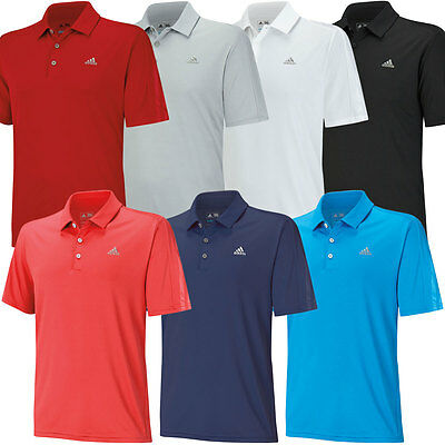 35% OFF RRP Adidas Golf Mens ClimaCool Deboss 3 Stripes Polo Shirt *Clearance*