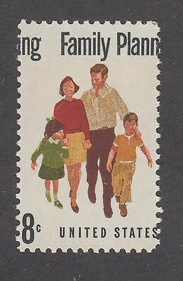 US Sc 1455 MNH. 1972 8c Family Planning,  color shift