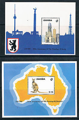 Gambia 1988 Anniversaries & Events MS SG 792 MNH