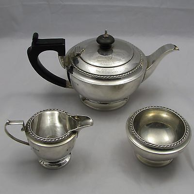Solid Silver Tea Set 1924 Ashton Golf Competition Trophy St Annes Old Links Club
