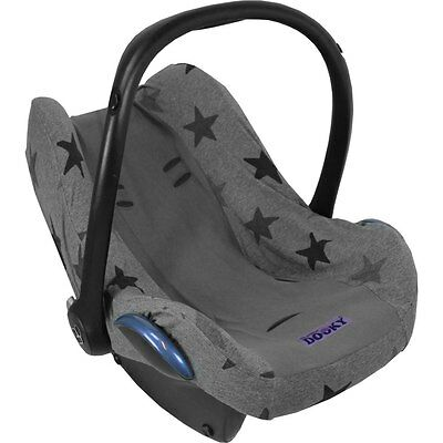 Dooky Car Seat Summer Cotton Cover Grey Stars fits Maxi Cosi Cabriofix/Pebble