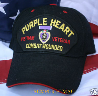 Purple Heart Vietnam Veteran Hat Us Marines Army Navy Air Force Combat Wounded