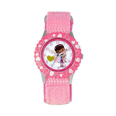NIB Disney Kids 3-6 Girls Doc McStuffins Lambie Watch TIME TEACHER Pink   #34516