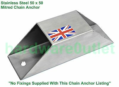50 MM Stainless Steel Mired Chain Security Anchor Bike ATV Trailer QUAD Trailer