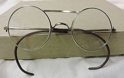 Vintage Silver Round Eyeglasses Spectacles Antique