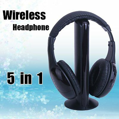 CUffie Stereo MH2001 Headphones Wireless 5in1 Microfono Radio Per Pc Tv Mp3 hsb