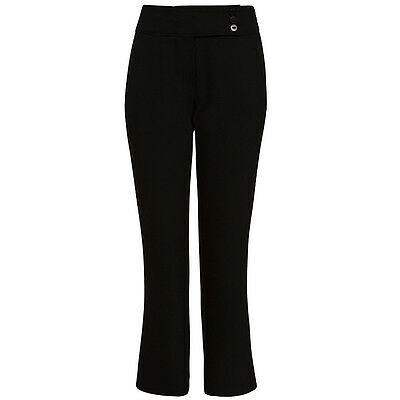 John Lewis Girls Adjustable Waist Button School Trousers BNWT RRP £18.50 Black