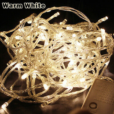 Battery Operated 20 LED 2M Warm White Christmas Xmas Fairy Party String Lights