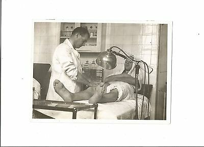 ARSENAL - Real Press Photo showing GEORGE MALE on treatment table