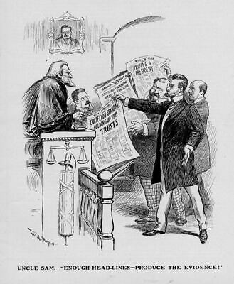 Uncle Sam As Judge With President Theodore Roosevelt On The Witness Stand Lawyer