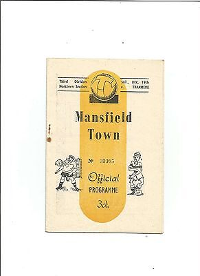 MANSFIELD TOWN v TRANMERE 1953/54