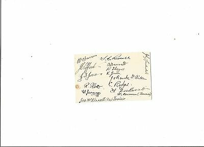 NORTHAMPTON TOWN - 16 Autographs in ink on small card, undated, probably 1936/37
