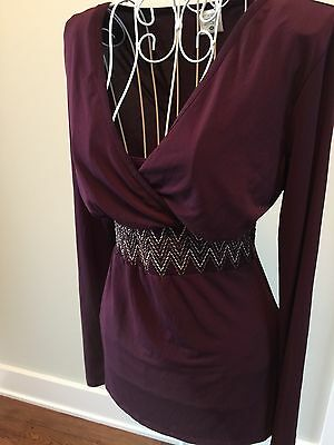 Motherhood Nursing Wear- Gorgeous Plum Long Sleeved Top-SZ-MED