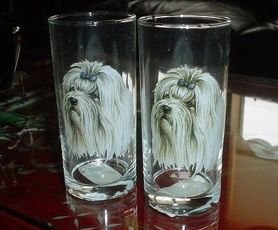 Maltese Drinking Glass Pair