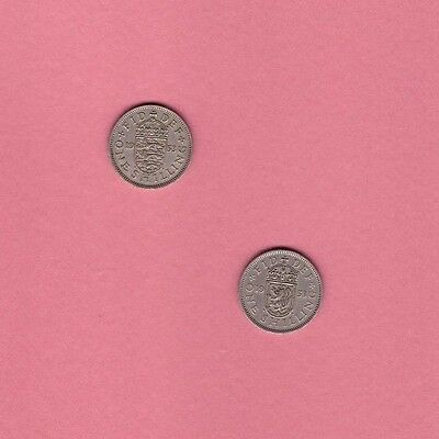 Great Britain - 1953 One Shilling #A - English & Scottish Crests - World/Foreign