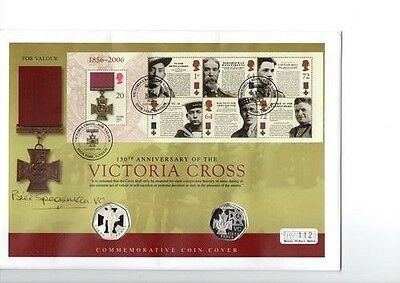 2006 Royal Mint Silver Proof Victoria Cross Fdc Signed By Bill Speakman V.c