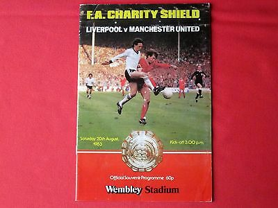 Liverpool v Manchester United - Charity/Community shield football programme 1983