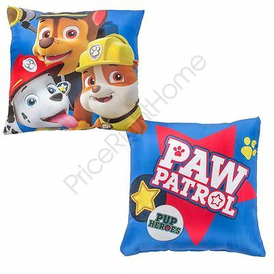 Paw Patrol Pawsome Reversible Cushion Kids Bedroom New Official Free P+P