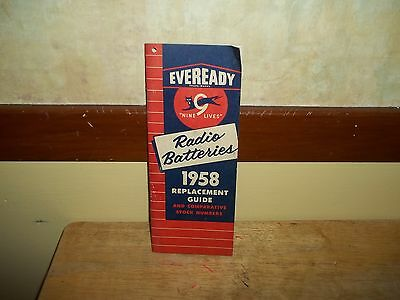 Vintage 1958 Eveready Batteries Replacement Guide,26 Pages