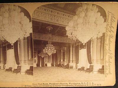 Great East Room President's Mansion Antique Stereoview Image