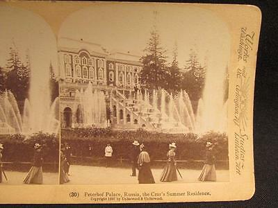 Peterhof Palace Russia Czar's Summer Residence 1897 Antique Stereoview Image