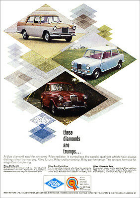 Riley Cars Elf One Point Five 4/72 Retro A3 Poster Print From 60's Advert