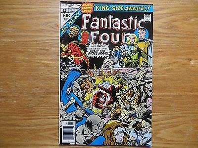 1978 Marvel Fantastic Four Annual # 13 48 Pages Signed Joe Sinnott, With Poa