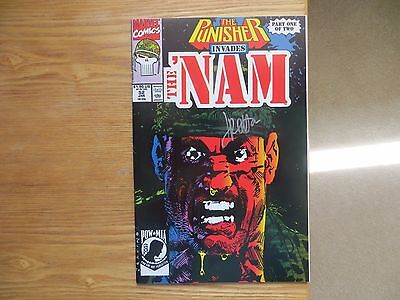 1991 Punisher Invades The Nam # 52 Origins Issue Signed Jimmy Palmiotti With Poa