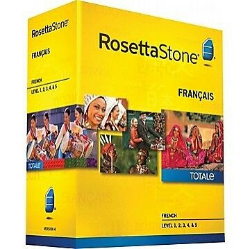 Rosetta Stone Level 1 2 3 4 5 French / Francais 31104 - SEALED, New In Box