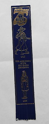Leather Bookmark - 1985 75Th Anniversary Of The Girl Guides Association