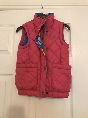 Joules Pink Girls Padded Body warmer Gilet Age 3 VGC Jacket ��