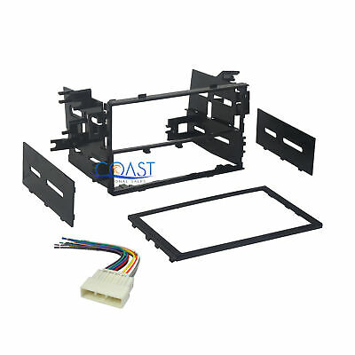 Car Radio Stereo Double DIN Dash Kit with Wiring Harness for 1999-2008 Honda