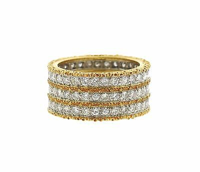 Buccellati Eternelle Two Color 18k Gold Diamond Ring Retail $21030